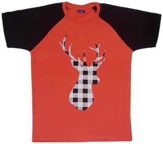 CH CRUX & HUNTER Boy Cotton Printed T-shirt - Red