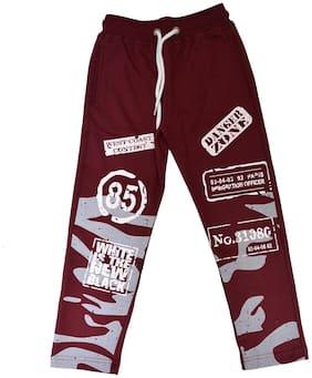 CH CRUX & HUNTER Boy Cotton Track pants - Maroon