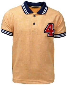 CH CRUX & HUNTER Boy Cotton Solid T-shirt - Yellow