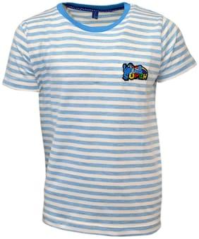 CH CRUX & HUNTER Boy Cotton Striped T-shirt - Blue