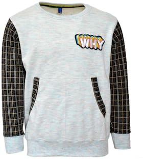 CH CRUX & HUNTER Boy Wool blended Solid Sweatshirt - Grey