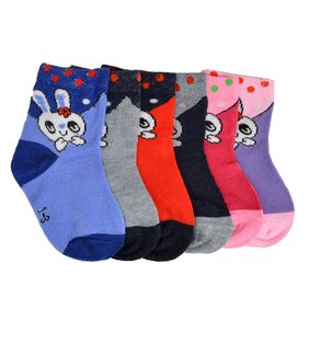 Crux&hunter cotton spandex kids ankle socks(Age: 1-3 years)