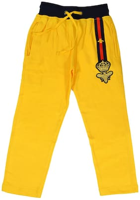 CH CRUX & HUNTER Boy Cotton Track pants - Yellow