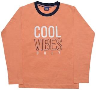 CH CRUX & HUNTER Boy Cotton Solid T-shirt - Orange