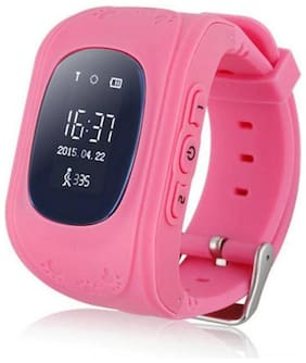 Crystal Digital Children Accurate Tracker Emergency Q50 Anti-Lost Smart Watch for Android Pink