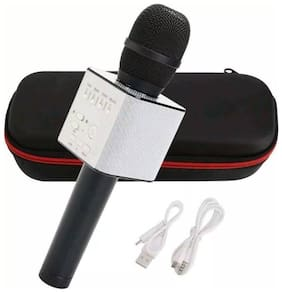 Crystal Digital Wireless Karaoke Mic Q7 With Attach Bluetooth Speaker And Echo Function;2600 mAh Battery (Black)