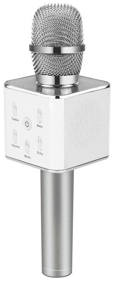 CHG  Microphone Wireless  Portable Handheld Singing Machine Condenser Microphones Mic And Bluetooth Speaker Q7   Silver