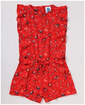 CuB McPAWS Rayon Floral Frock - Red