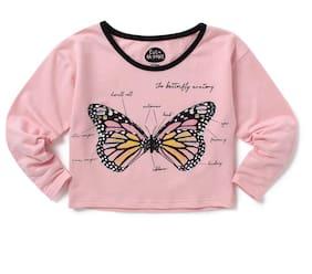 CuB McPAWS Girl Cotton Printed Top - Pink