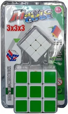 CUBE,PUZZLE,STRICLESS CUBE ,MULTICOLOR,PACK OF 2
