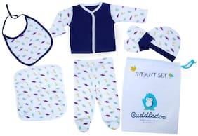 Cuddledoo (6 PCS) Newborn Baby Clothing Set (Blue)