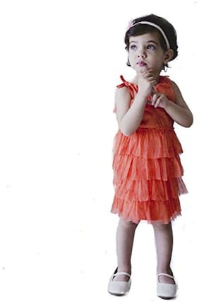 Cuddledoo Jersey Tulle Coral Frock