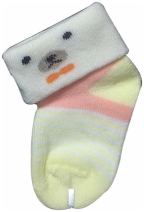 Cute Collection- Cotton Socks for Kids (0-3 months, 3 Pair)