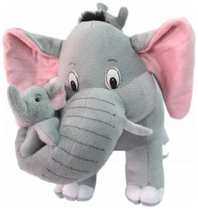 Cute elephant with 2 babies 30cm