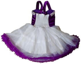 Cute Fashion Kids Girls Baby Princess Purple Velvet Party Wear Flower Dresses Skirt Clothes