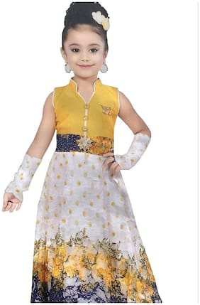 Cute Fashion Kids Girls Baby Princess Popcorn Net Party Wear Flower Dresses Clothes 1 - 2  Years