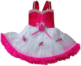Cute Fashion Kids Girls Baby Princess Pink Party Wear Flower Dresses Skirt Clothes 2 - 3 Years