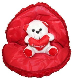 Cute Heart with Teddy Bear Cuddles Soft Toy For  Return Gifts Girls Lovable Special Gift High Quality Small