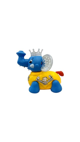 buy cute moving elephant clever toy with music and lights online at