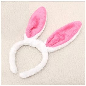 Cute Pink Rabbit/Bunny Ear Hairband Role Play Return/Birthday Gift for Kids and Adults 1Pc.