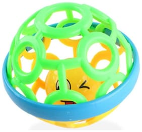 Shanaya Cute Soft Plastic Rubber Body Rolling Hand Bell Ball Baby Rattles Toy for Infants Rattle (Multicolor)
