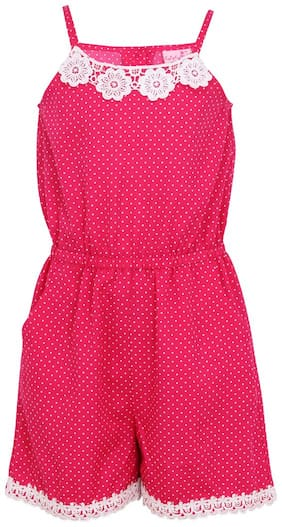 Cutecumber Cotton Solid Bodysuit For Girl - Pink