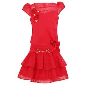 Cutecumber Baby girl Top & bottom set - Red
