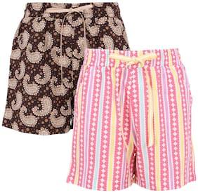 Cutecumber Girl Polyester Printed Regular shorts - Multi