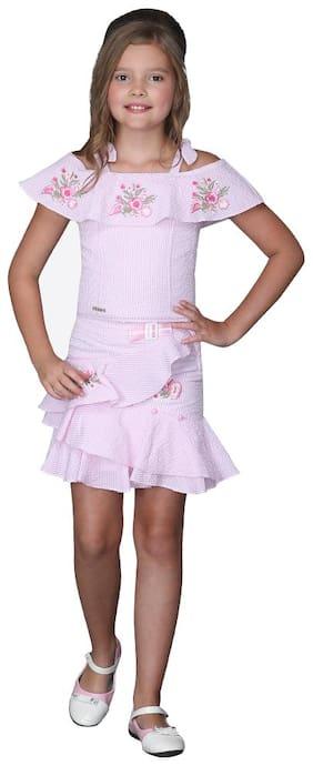 Cutecumber Girl Cotton Top & Bottom Set - Pink