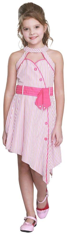 Cutecumber Baby girl Cotton Solid Princess frock - Pink