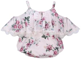 Cutecumber Satin Floral Top for Baby Girl - Multi