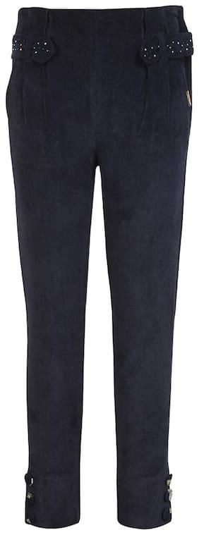 Cutecumber Girl Blended Trousers - Blue