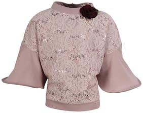 Cutecumber Girl Blended Embellished Top - Multi
