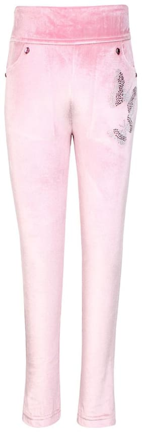 Cutecumber Girl Blended Solid Flared skirt - Pink