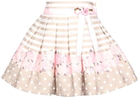 Cutecumber Girl Blended Floral Straight skirt - Pink