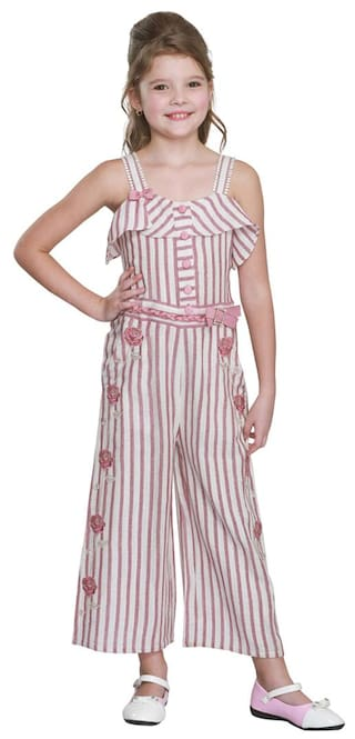 c899eed887 Buy Cutecumber Girls Partywear Cotton Jumpsuit Online at Low Prices ...