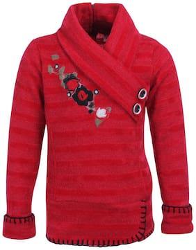 Cutecumber Girls Partywear Sweater (Red)