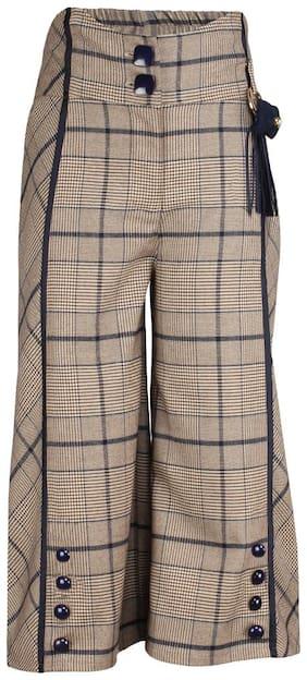 Cutecumber Girl Polyester Trousers - Brown
