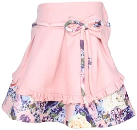 Cutecumber Girl Polyester Solid A- line skirt - Pink