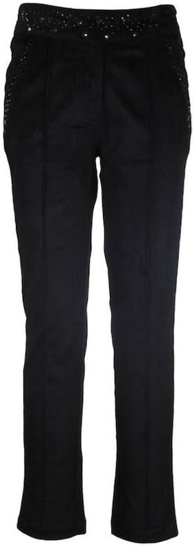 Cutecumber Girl Polyester Trousers - Black