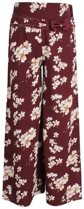Cutecumber Girl Blended Trousers - Maroon