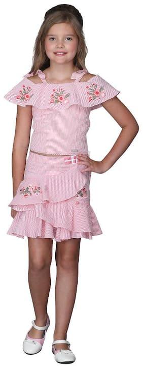 Cutecumber Girl Cotton Top & Bottom Set - Red