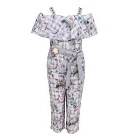 Cutecumber Georgette Floral Bodysuit For Girl - Multi