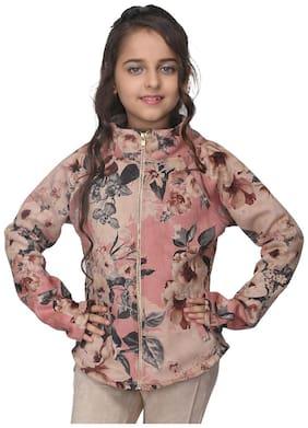 Cutecumber Girl Polyester Floral Winter jacket - Multi