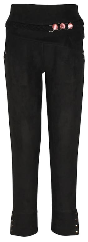 Cutecumber Girl Blended Trousers - Black