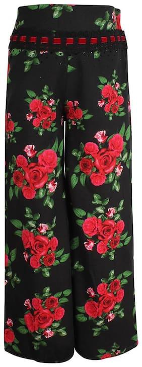 Cutecumber Girl Cotton Trousers - Black