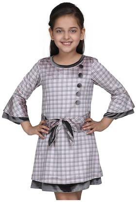 Cutecumber Pink Polyester Full Sleeves Knee Length Princess Frock ( Pack of 1 )
