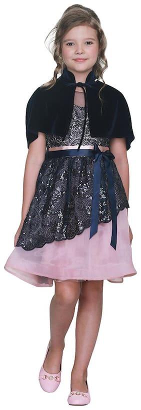 Cutecumber Baby girl Polyester Embellished Princess frock - Blue