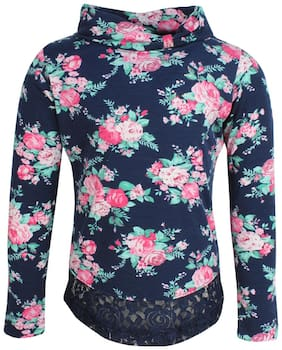 Cutecumber Girl Polyester Solid Top - Blue