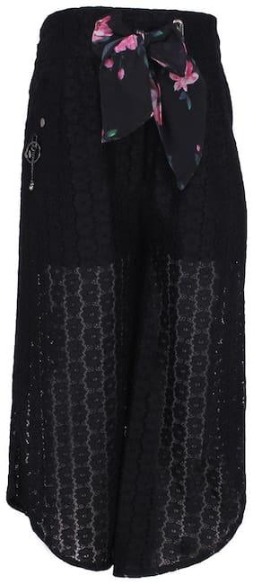 Cutecumber Girl Lace Trousers - Black
